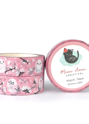 Meow Amor Creative Washi Pink Cotton Bird