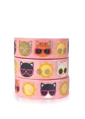 Meow Amor Creative Washi Summer Cats