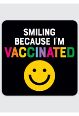 Rock Scissor Paper Sticker Smiling Face Vaccinated