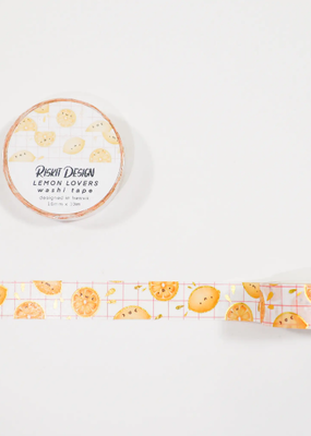 Riskit Design Washi Lemon Lovers Gold Foiled