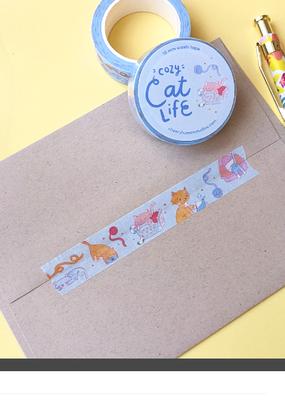 Cheery Human Studios Washi Cozy Cat Life