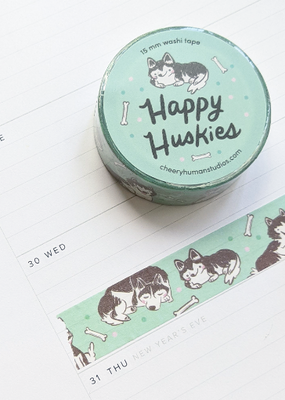 Cheery Human Studios Washi Happy Husky