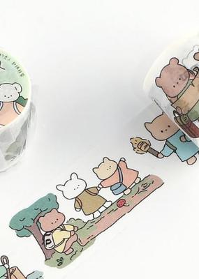 collage Washi Cartoon Animals Adventure