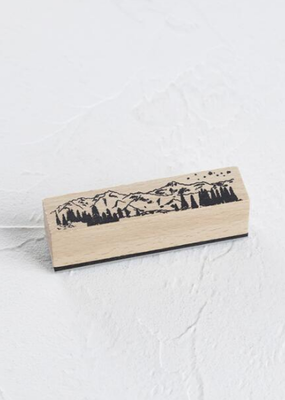 collage Stamp Mountain Scape
