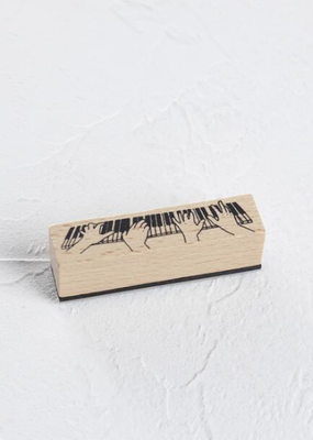 collage Stamp Piano Playing