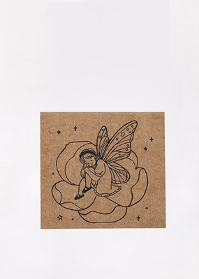 collage Stamp Fairy in a Flower