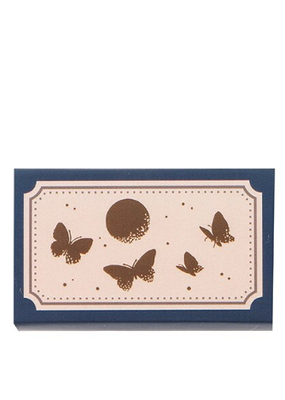 collage Stamp Moon and Butterflies