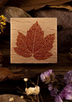 collage Stamp Maple Leaf Skeleton