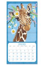 Studio Oh! 2022 Wall Calendar Flower Crown Animals