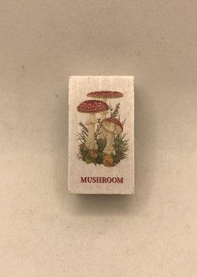 collage Stamp Mushroom Bunch