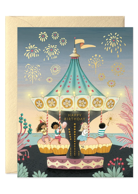 joo joo paper Card Carousel Birthday