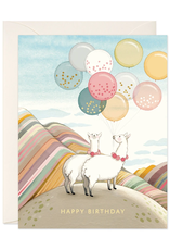 joo joo paper Card Llamas Birthday