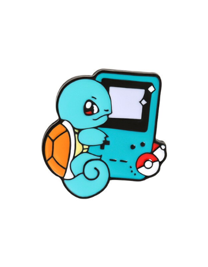 collage Enamel Pin Squirtle Game Boy
