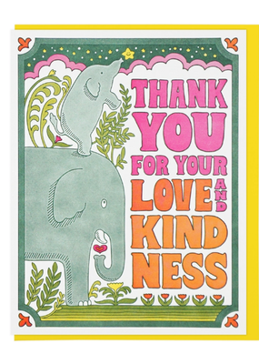 Lucky Horse Press Card Thank You For Your Love and Kindness