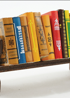 Handley House Miniature  Books with Bookshelf
