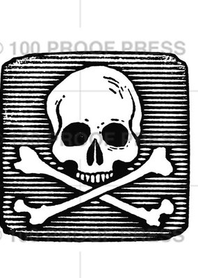 100 Proof Press Stamp Skull & Crossbones