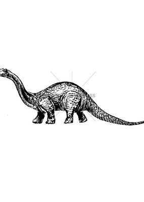 100 Proof Press Stamp Brontosaurus
