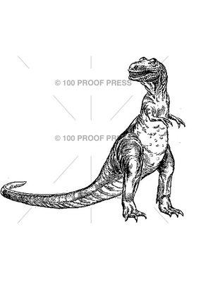 100 Proof Press Stamp T-Rex