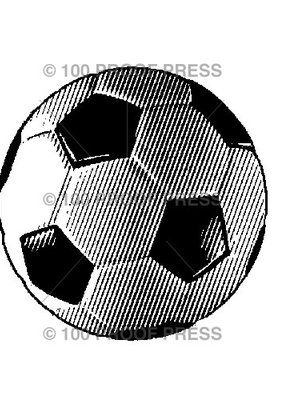 100 Proof Press Stamp Soccer Ball