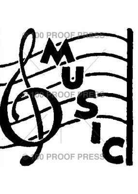 100 Proof Press Stamp Music