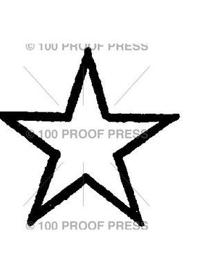100 Proof Press Stamp Star