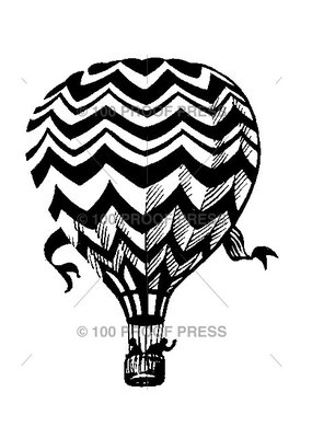 100 Proof Press Stamp Hot Air Balloon