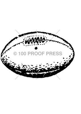 100 Proof Press Stamp Football