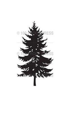 100 Proof Press Stamp Spruce Tree