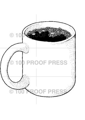 100 Proof Press Stamp Mug of Coffee
