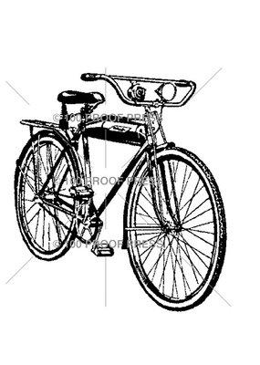 100 Proof Press Stamp Vintage Bike with Headlight