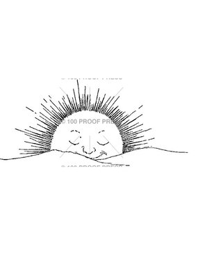 100 Proof Press Stamp Setting Sun Smiling