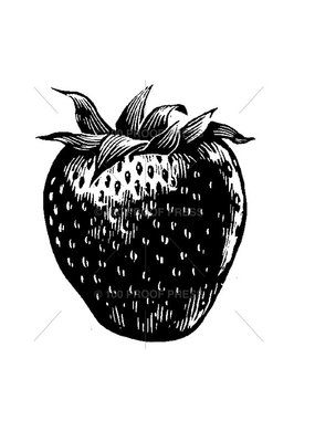 100 Proof Press Stamp Large Strawberry