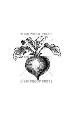 100 Proof Press Stamp Beet