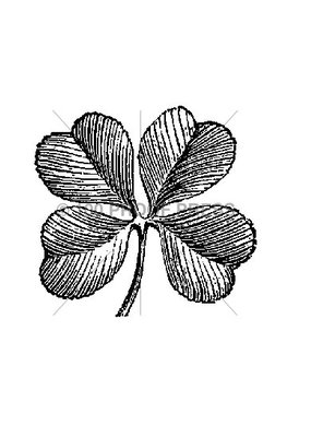 100 Proof Press Stamp Four Leaf Clover