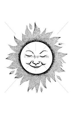 100 Proof Press Stamp Sun Motif