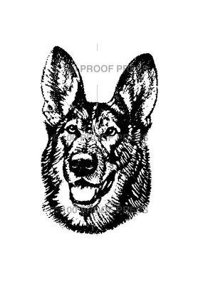 100 Proof Press Stamp Shepherd Face