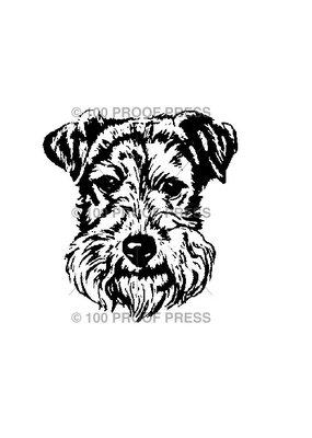 100 Proof Press Stamp Terrier Head