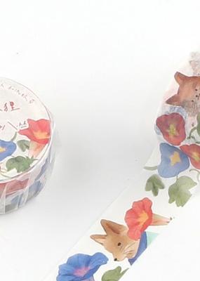 collage Washi Floral Fox