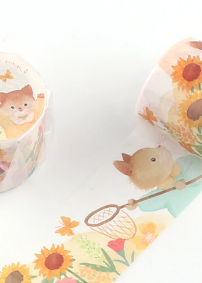 collage Washi Floral Cat