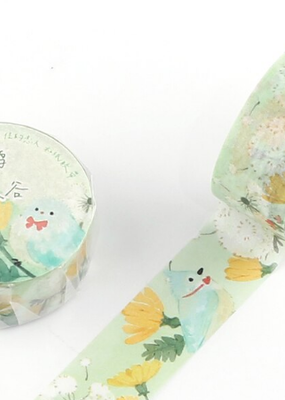 collage Washi Floral Bird