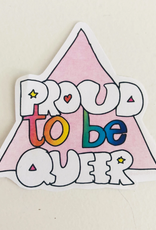 Ash + Chess Sticker Proud To Be Queer