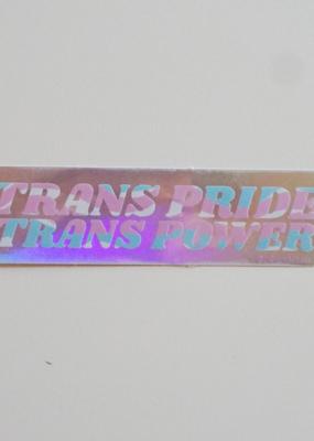 Ash + Chess Sticker Trans Power Trans Pride