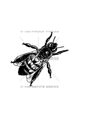 100 Proof Press Stamp Small Honey Bee