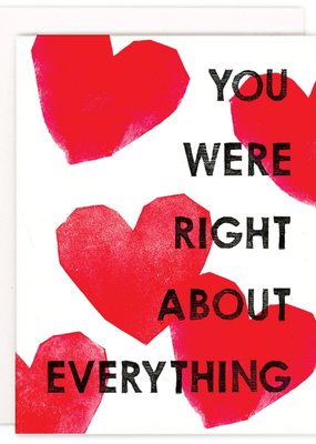 Heartell Press Card You Were Right About Everything Romance