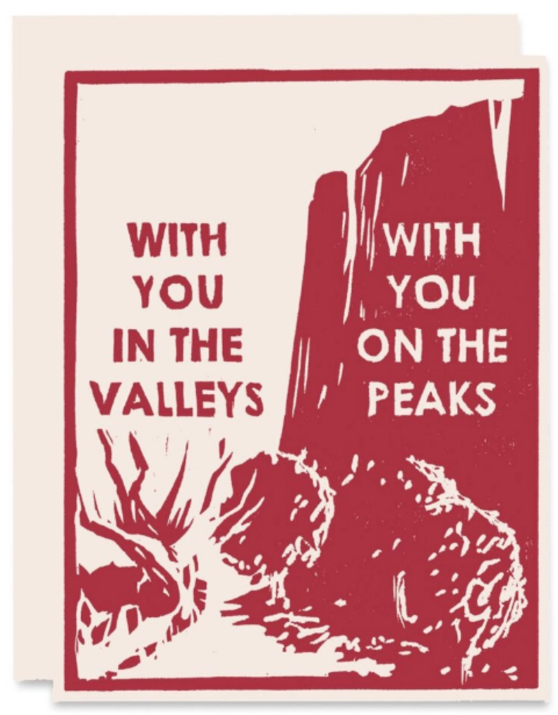 Heartell Press Card Peaks and Valleys Sympathy