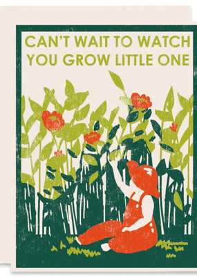 Heartell Press Card Watch You Grow New Baby