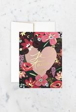 Idlewild Card Je Taime Roses