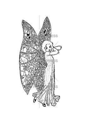 100 Proof Press Stamp Pretty Fairy