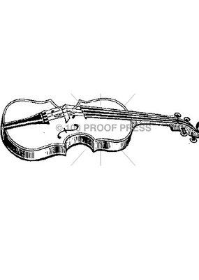 100 Proof Press Stamp Violin