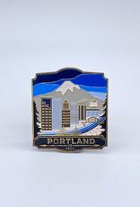 Landmarks Unlimited Enamel Pin Portland